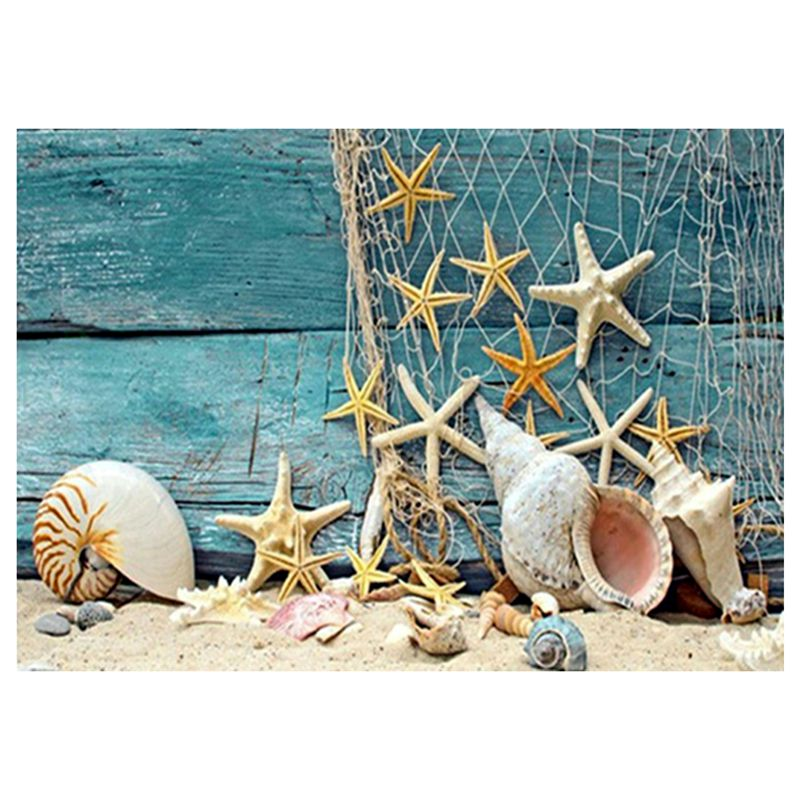 5D DIY Diamond Painting Starfish Conch Embroidery Patterns Cross Stitch dia R9H6