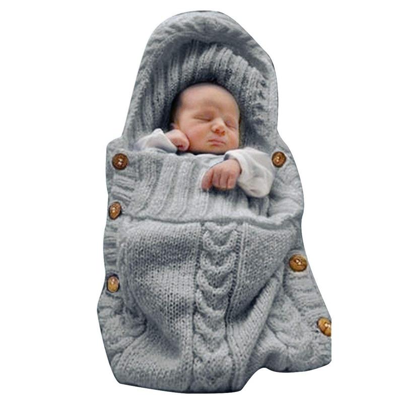 Neugeborenen Wickeldecke Wickeldecke Stricken Schlafsack Schlafsack Kind X7T2 1X