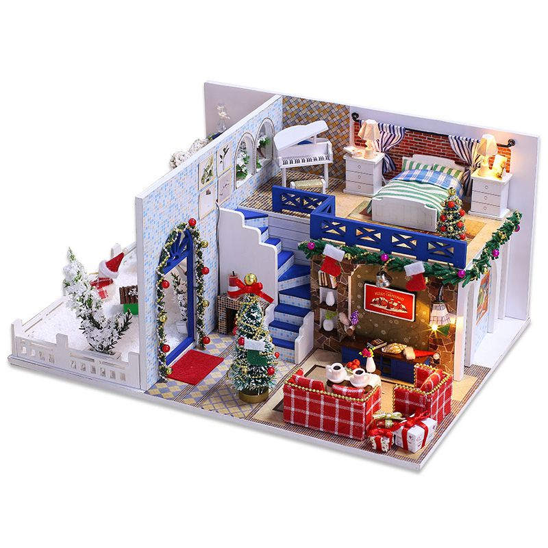 1X(IIECREATE Furniture DIY DollHouse Wooden Miniature Doll Houses Furniture H4Y5 192948378195