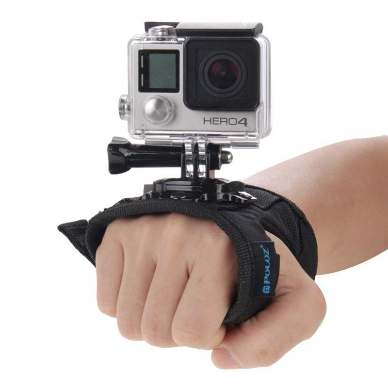Glove-style wrist banda Mount Strap Accessories for GoPro Hero 3+//3//2//1