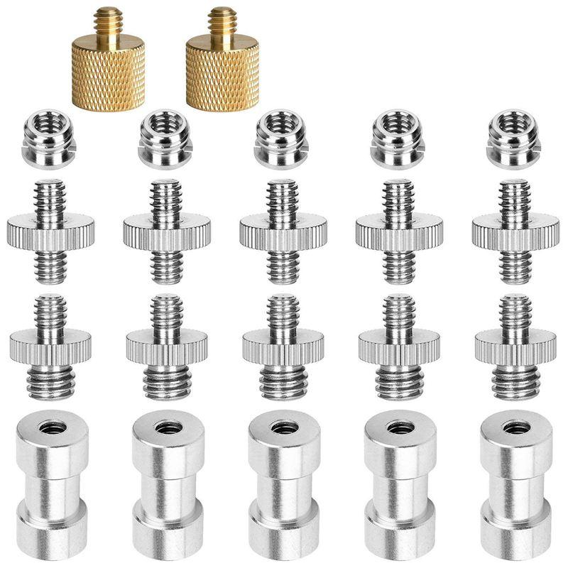 10X(22Pack Camera Screw Adapter 1/4 to 3/8 Tripod Converter Brass Spigot MounA9) 192948450877