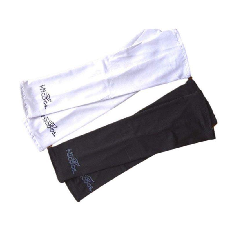 3X(HICOOL Arm Set Schwarz und Weiß 2 Sätze UV-Schutz Gegen UV-Sonnen schutzA4D6)