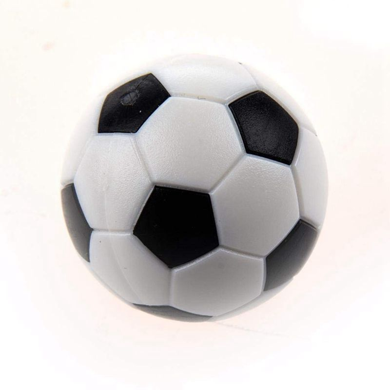 6PCS Small Football Style Table Ball Foosball Hard Plastic Table Ball Count W6U8