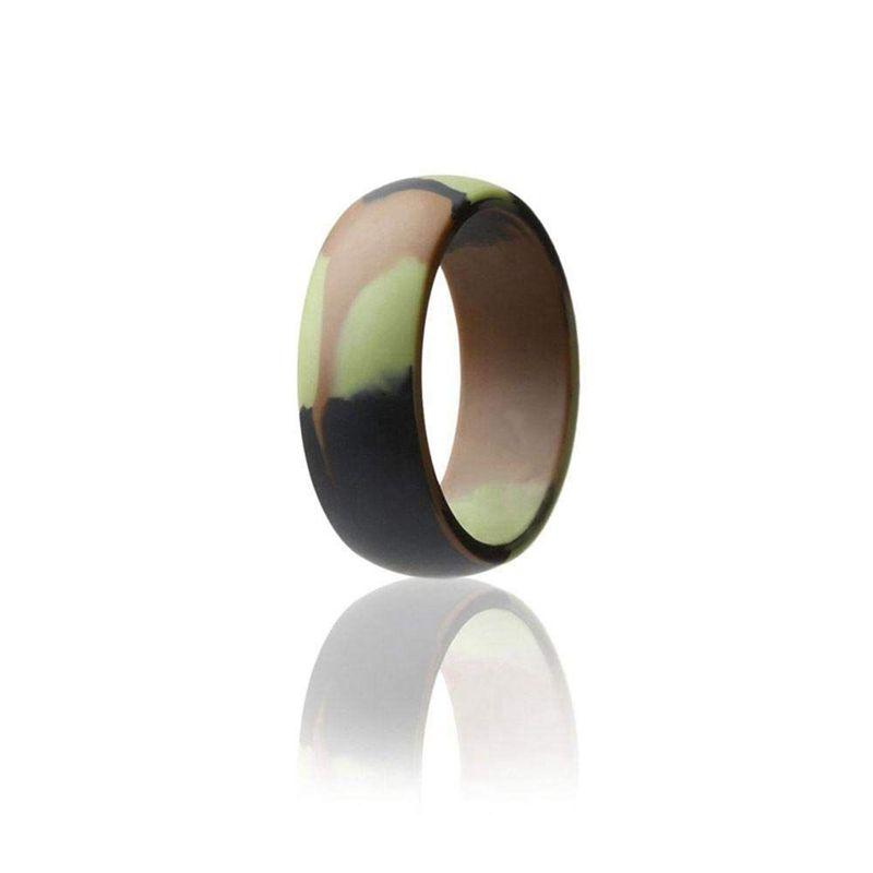 Silikon Ring fuer Maenner und Frauen,Unisex Sport und Aussen Ehering aus Gu J2A7