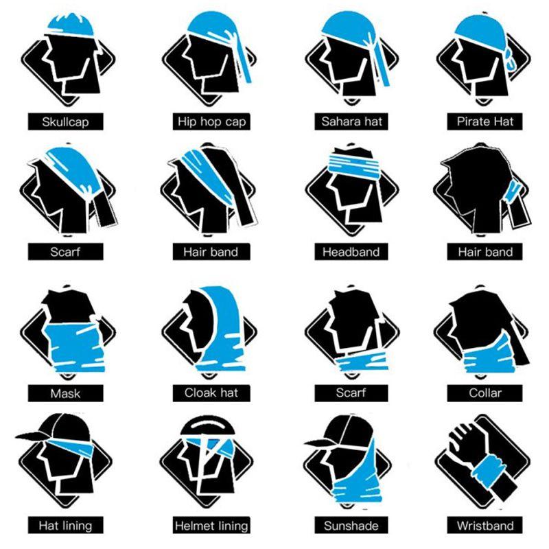 1X Kopfbekleidung 3D Magisches Handtuch Digital Druck Sonnencreme Reit Kragen Magisches KoE5Q3