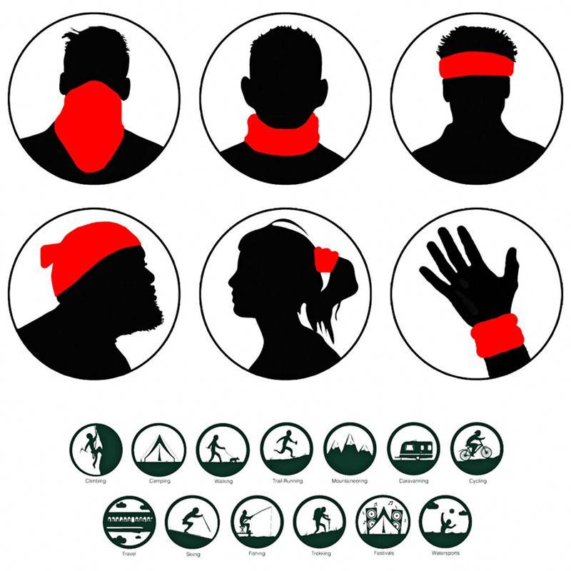 Kopfbekleidung 3D Magisches Handtuch Digital Druck Sonnencreme Reit Kragen Magisches Kopft A3C1