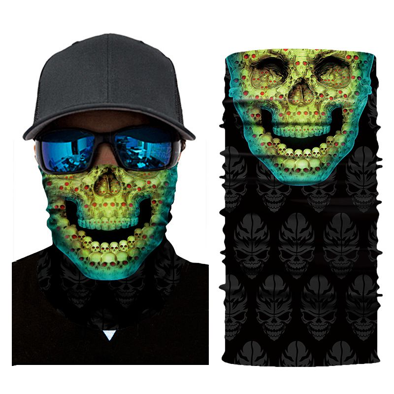 3D Magisches Handtuch Digitaldruck Sonnencreme Reitkragen Magisches Kopf NE Bekleidung Kopfbekleidung 3X