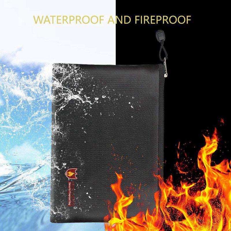 2X Feuerfeste Dokumententaschen, Wasserdichte Und Feuerfeste O1H1