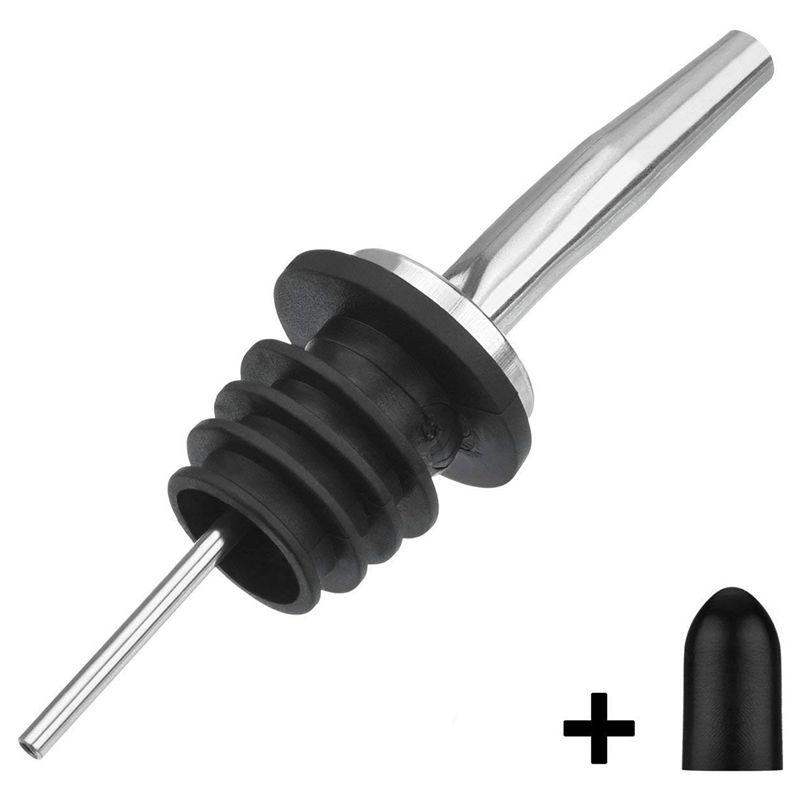 TableCraft H35BK Free Flow Pourers Black 12-Pack Bar Supplies Beverage Equipment