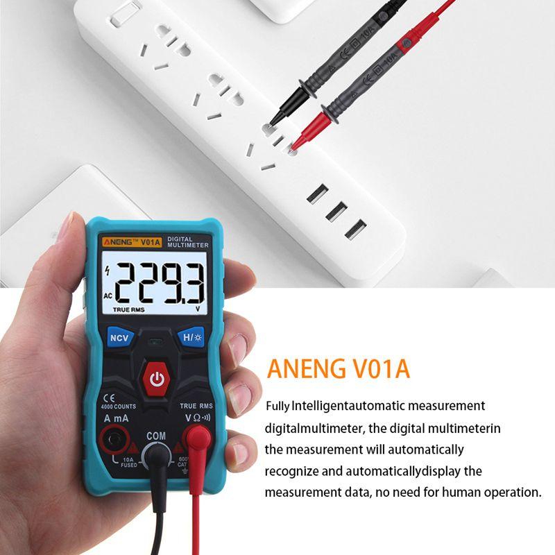 Aneng V01A 4000 Zählt Echte Rms-Taste Automatisches Digitalmultimeter Ac D R7Q3