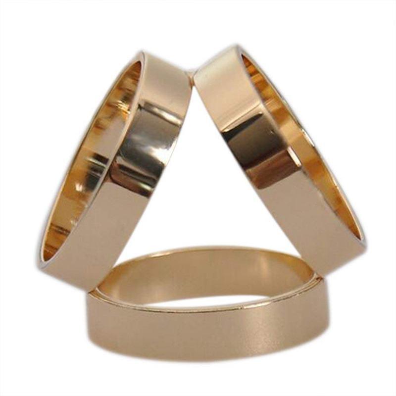 Mode 3 Ringe Seidenschal Schnalle Schal Ring Clip B3Z6