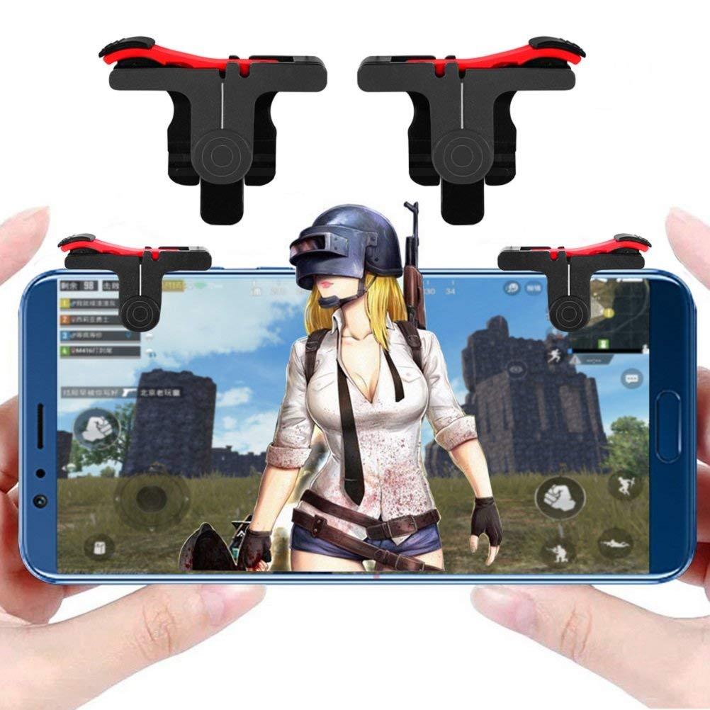 Мобильные игры контроллер gamepad L1R1 Mobile Phone джойстик чувствительный стрелять и целиться триггеры для PUBG / ножи вне / правила выживания Android iOS Мобильные игры джойстики