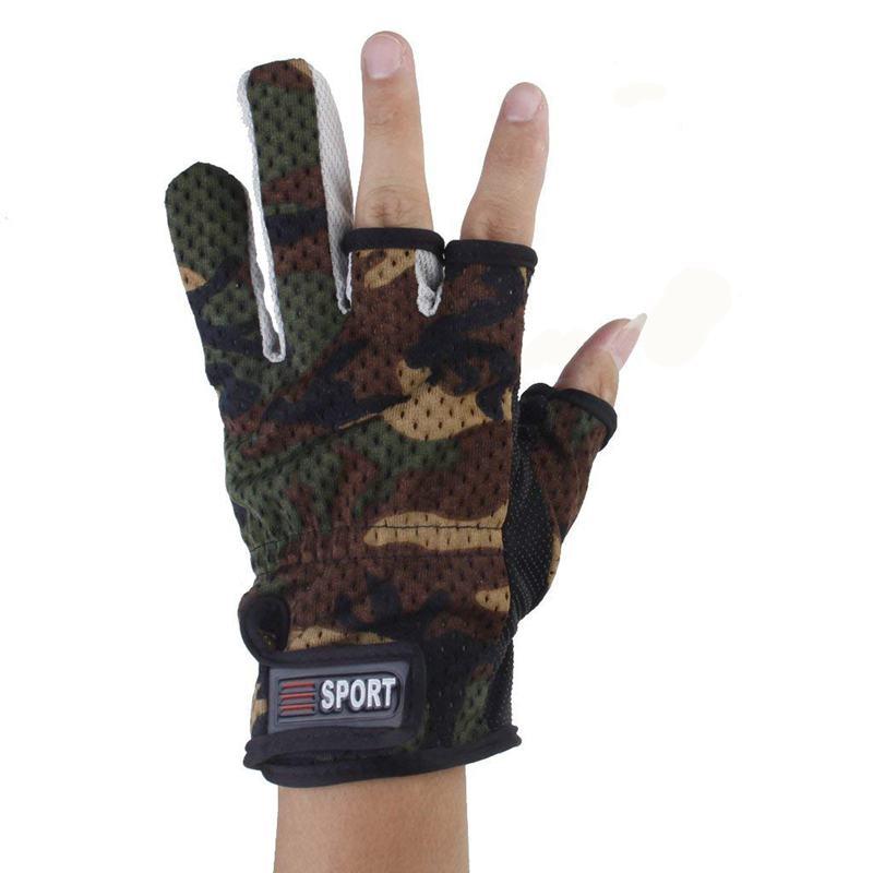Anti-Rutsch Anglerhandschuhe Tief Geschnitten Finger 1 Paar W3R5