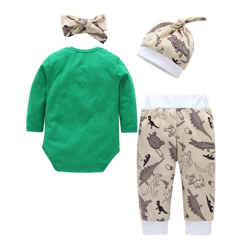 1X Neue Herbst Winter Baby Kleidung Neugeborenen Karikaturdruck Nette 4 Stü T7T8