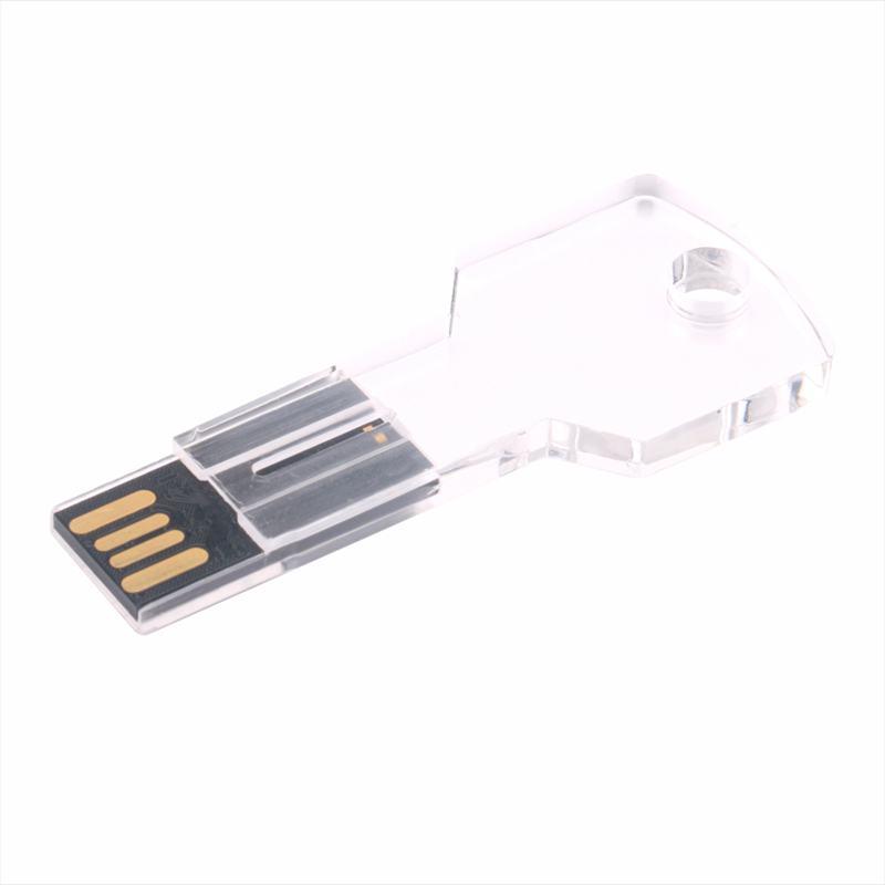 Key Acrylic USB Flash Drive Waterproof Crystal Pen drive pendrive USB 2.0 F M6S8