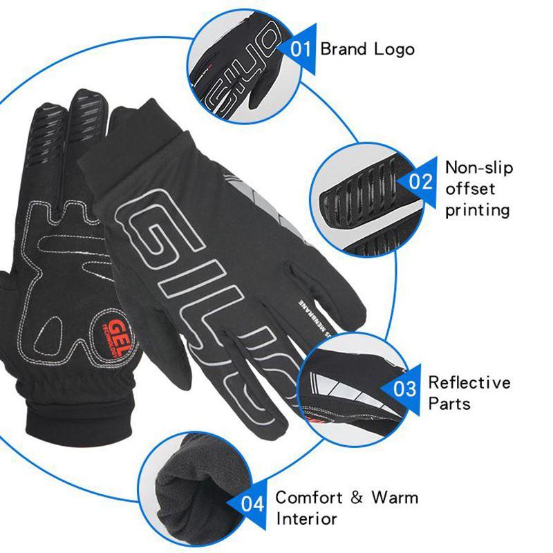 GIYO Fahrrad Handschuhe Winter Herren Alle Finger Dick Winddicht Warm Touch M5W3