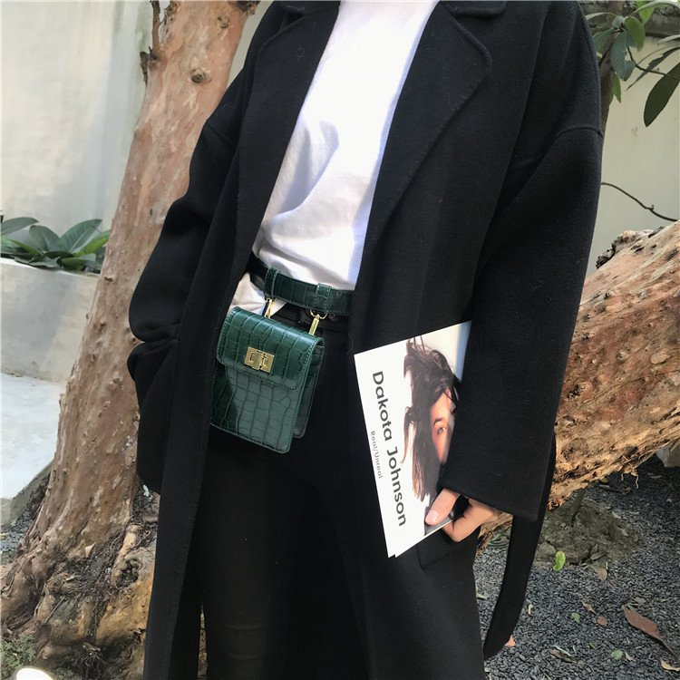 1X Mode Krol Leder Damen Umhänge Tasche Leder Gürtel Taschen Chic Style J0H5