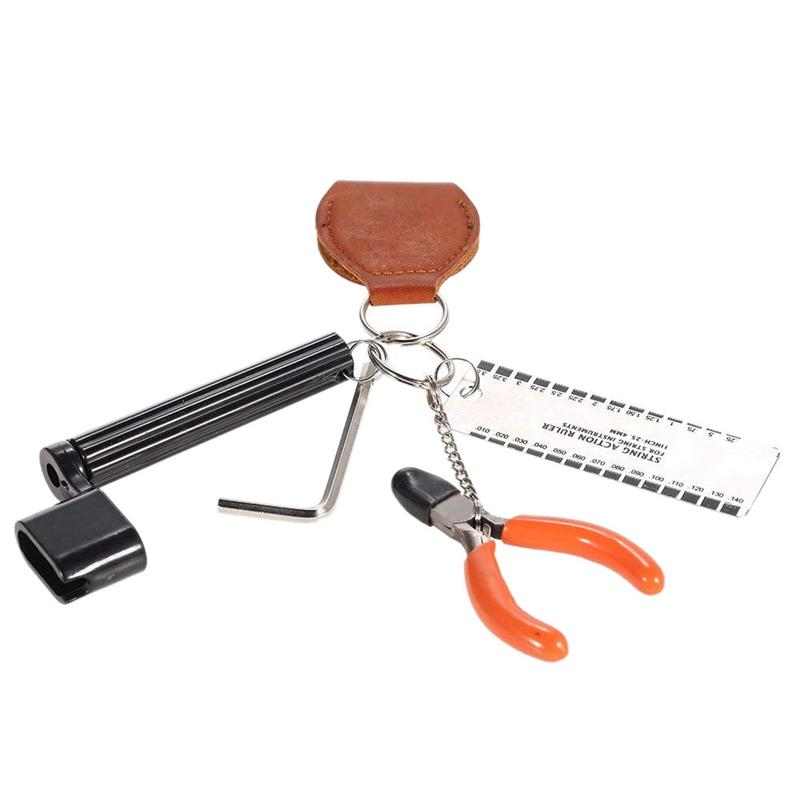 10X(5 in 1 Guitar Accessories Kit Setup String Winder Bridge Pin Peg Puller +P9)