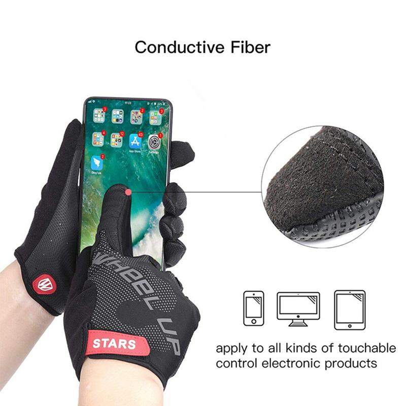 Wheel Up Full Finger Cycling Glove Anti-slip Bike Bicycle Gloves Touch-screen P6