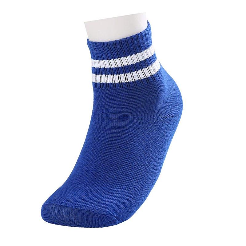 1X Women Cuff Stripes Pattern Breathable Crew Socks 5 Pack A2C4