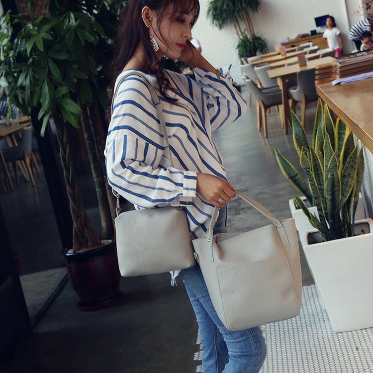 Women Four Set Handbag Shoulder Bags Four Pieces Tote Bag Crossbody Wallet A3G4