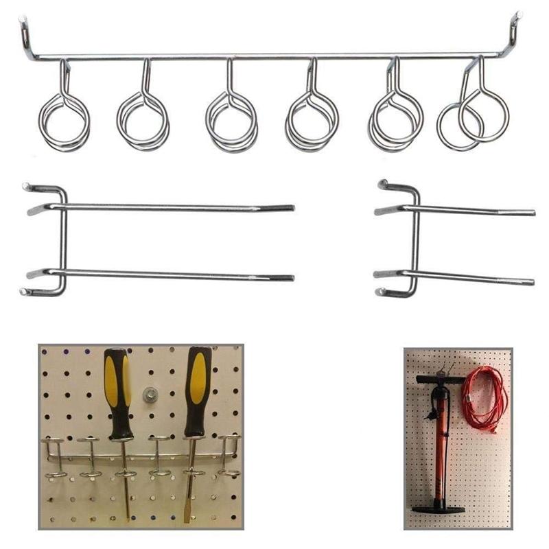 100Pcs Pegboard Shelving Set Pegboard Hooks Storage Shop Garage Organizing H5E6