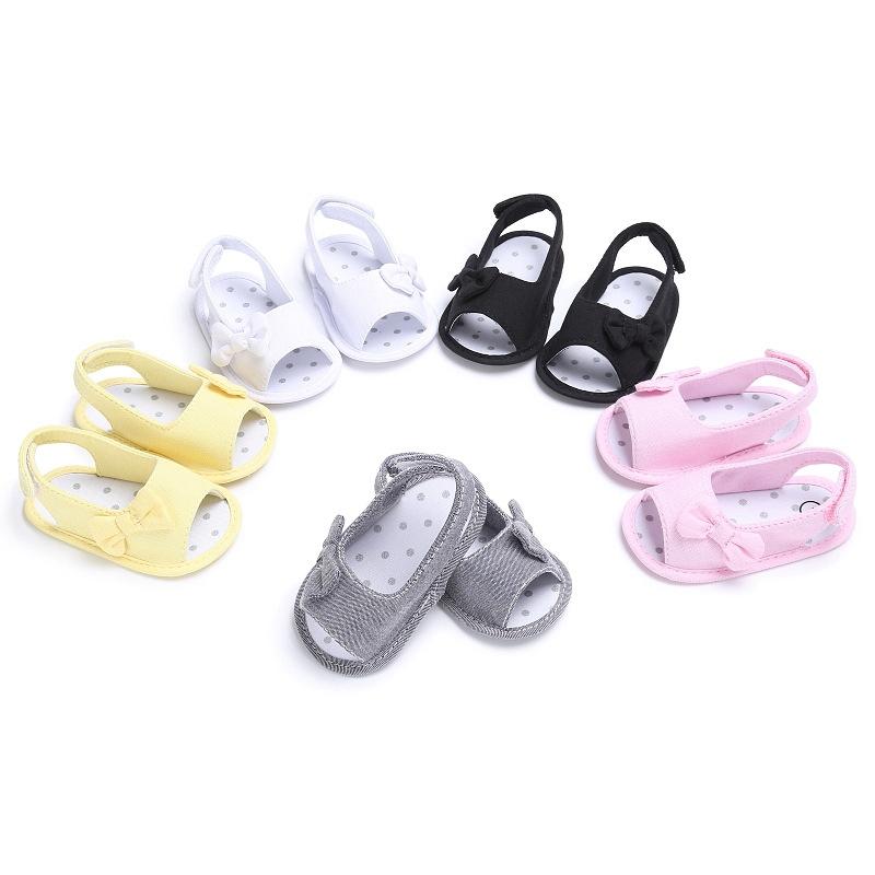Newborn Toddler Girl Soft Sole Bowknot Sandals Shoes Baby Crib Cloth Prewalk 6H3