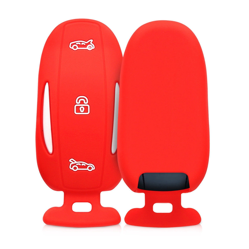 Silicone key Bag remote key cover for Tesla Model X p90d 75D 100D with key  D2D2