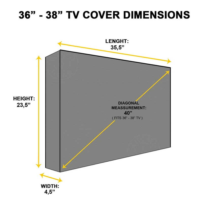 Im Freien TV Abdeckung Panther Serie Wetterfester Universal Plasma F Q5F9 LED