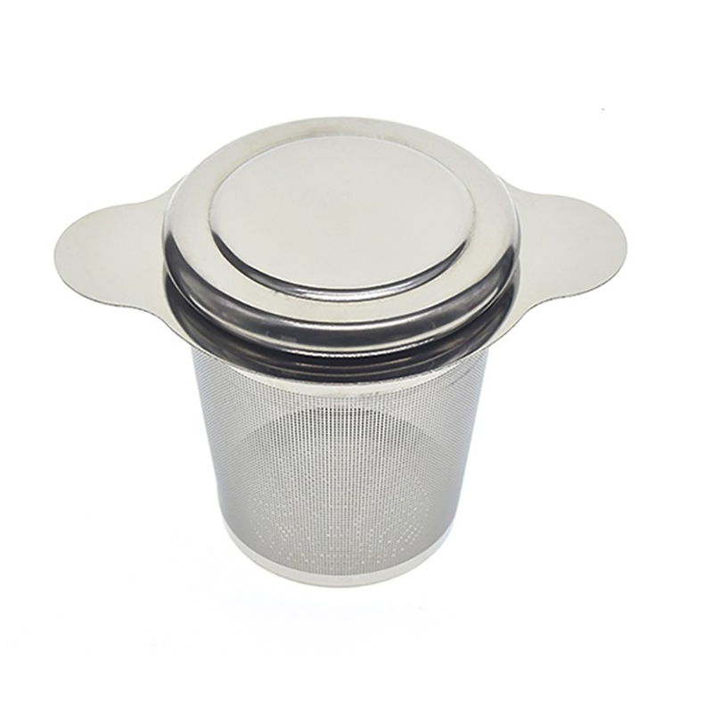 Фильтр из нержавеющей стали для заварки чая с двумя универсальными крышками