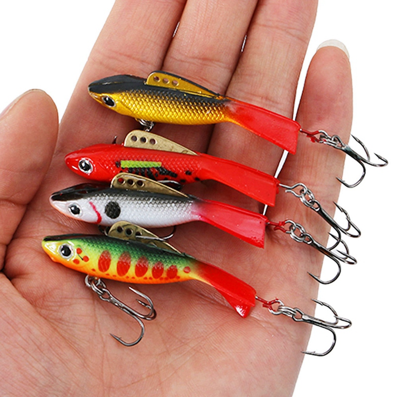 1PC Artificial Ice Fishing Lures Walleye Jigs Winter Bait Hard Lure Balance I8H9