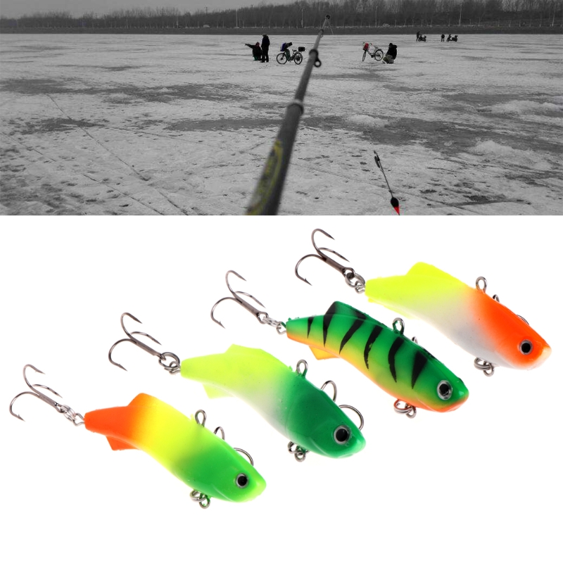 Winter Fishing Lure Vib Ice Fishing Lure Soft Bait 7cm 16.7G Isca Artificia F3D1
