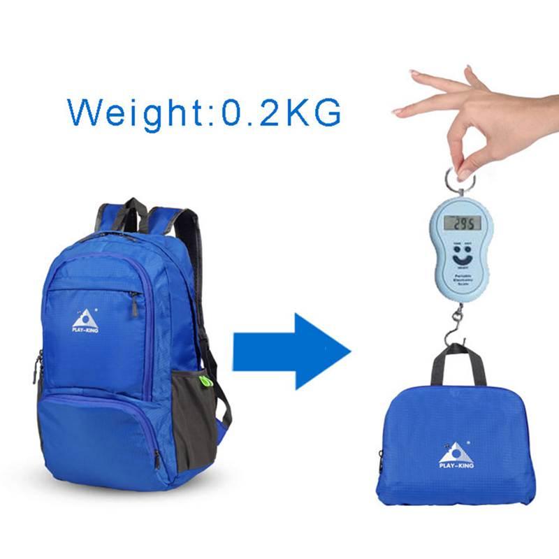 PLAYKING Nylon Foldable Backpack Waterproof Ultralight Backpack Folding Lig V3E8