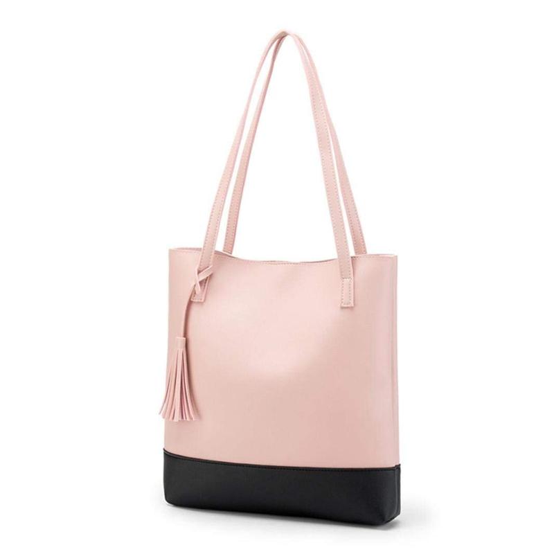 Frauen Umhaengetasche Pu Quasten Umhaengetasche Schultertasche Handtasch R3S6 1X