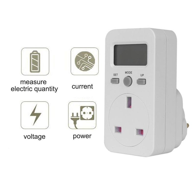 Digital Power Meter Plug-In Socket Electric Wattmeter Energy Monitor I6A7 1X