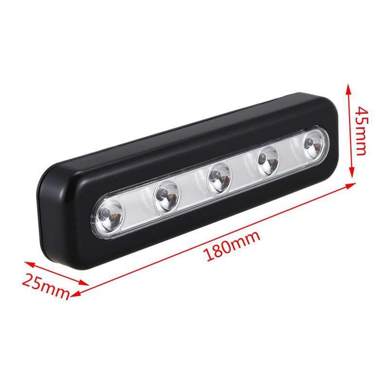 2X Berühren Sie das Licht, Mini Wireless Wandleuchte 5 Led Batteriebetrie S8F7