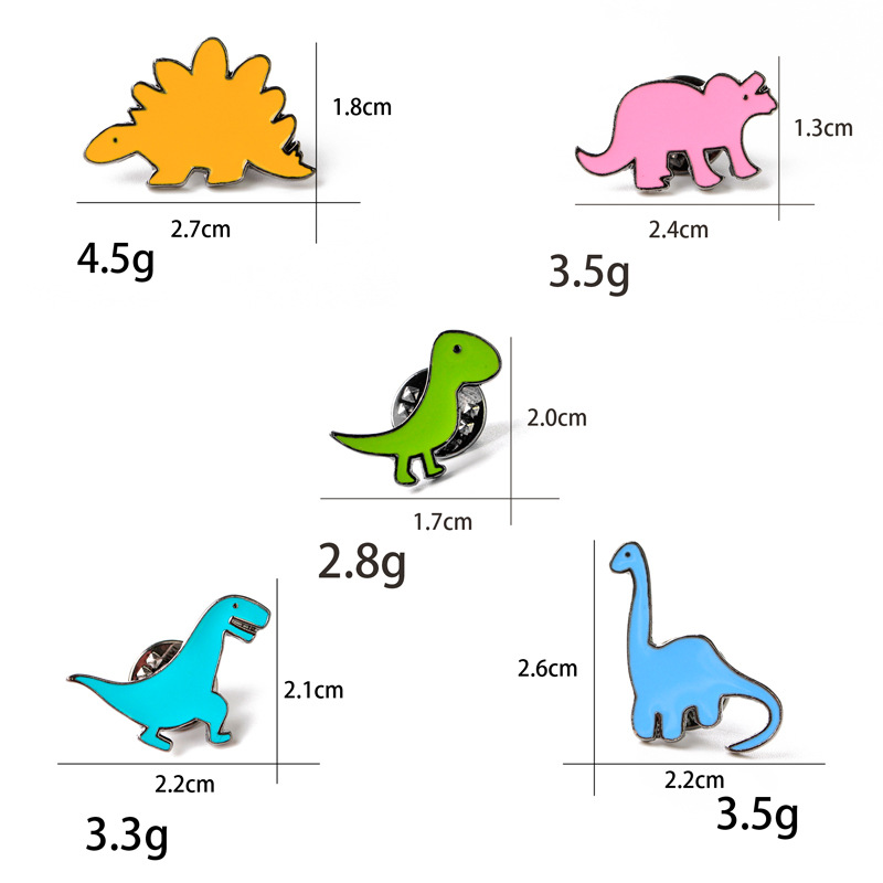 Cartoon Dinosaurier Brosche Diy Button Nadel Jeansjacke Rucksack Nadel Badg N6W6