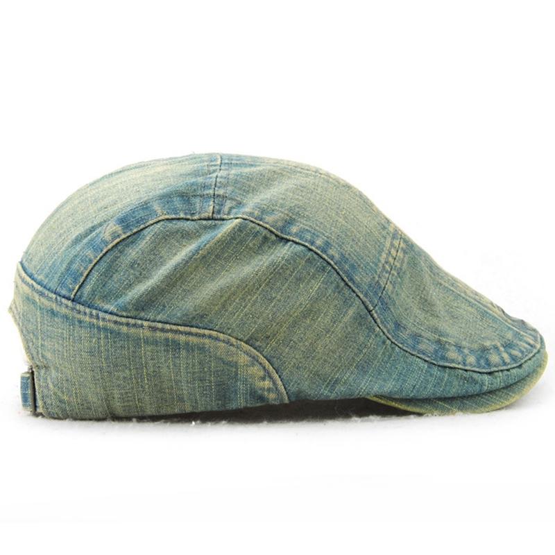 JAMONT Mode Denim Barett Hut Männer Cowboy Hüte Planas Flache Kappen Berets G2T3