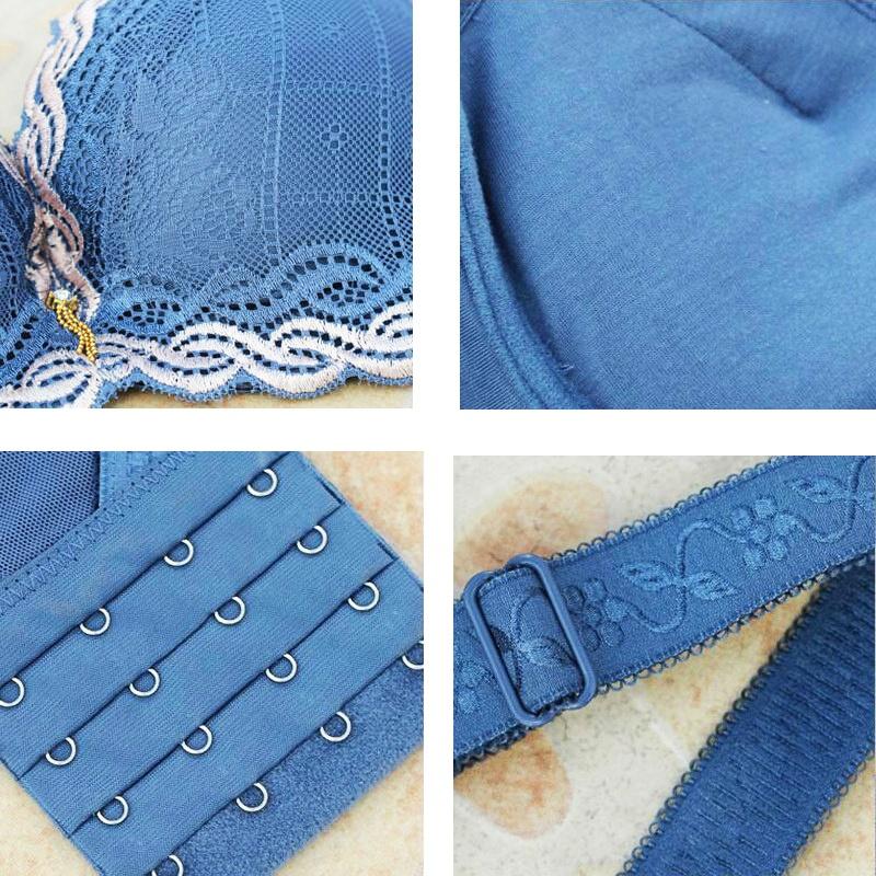 Frauen Unterwäsche Kleine Brust Pushing Up Bh Minimized Tief Vs 5 Cm Dick G W8A2