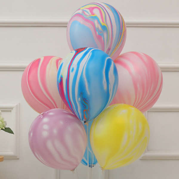 7// Packs Color Party Balloons -Colorful Cloud Balloon,Birthday Party Decora J1J3