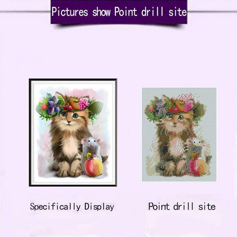 Cat And Mouse 5D Diy Diamond Painting Full Square Diamond Diamond Icon Dia H8 1X
