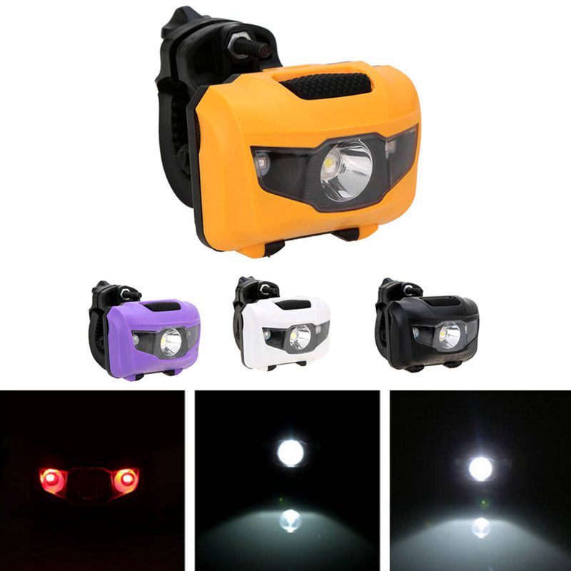 Bicycle Headlights Waterproof Led Strong Headlights Red Light Warning Light  9Y4