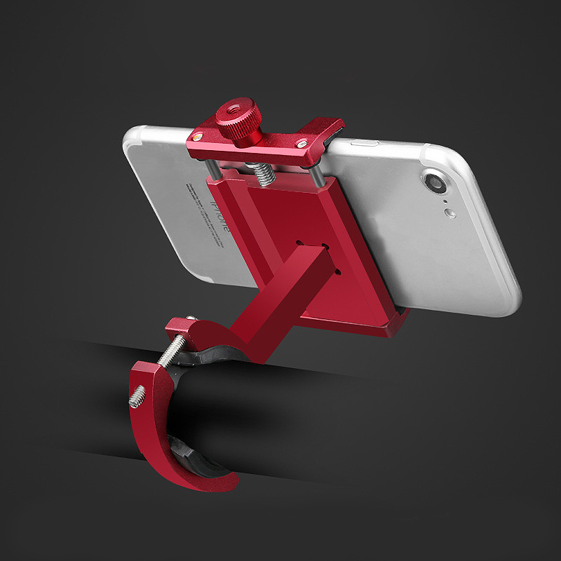 Aluminium Legierung Fahrrad Handy Halter 3,5-6,2 Zoll Smartphone Einstellba NE
