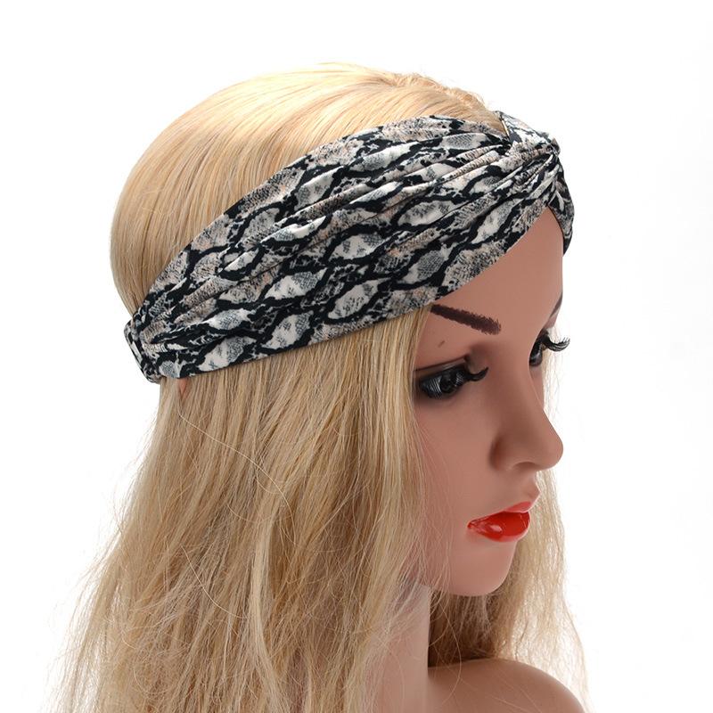 Аксессуары для волос Женская сережка для волос полоса поперек натянутые модельные заголовки женские широкий боковой гардероб аксессуары (Фото 5)