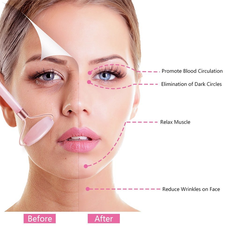 Jade Stein Gesichts Massage Roller Praktische Jade Gesicht Anti-Falten Körp F8Q8