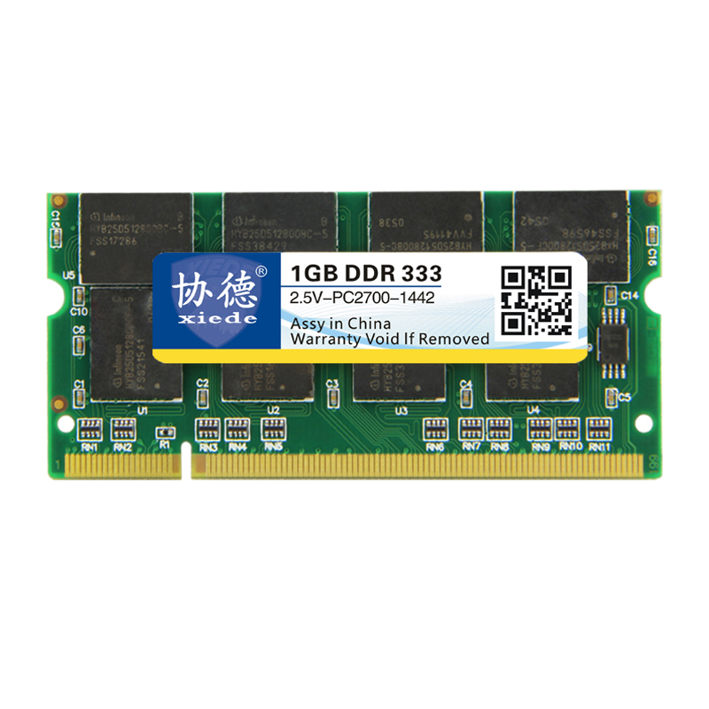 Xiede Laptop Memory Ram Module Ddr 1GB Ddr1 200Pin Dimm For Notebook L5G4