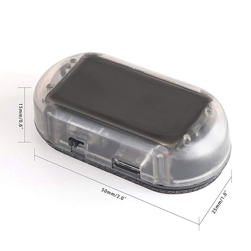Car Solar Power Simulated Dummy Alarm Warning Anti-Theft Led Flashing Secur O6R7