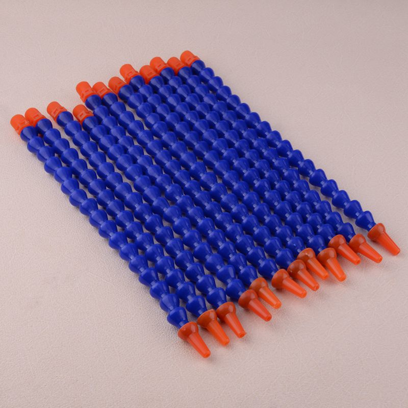 12pcs 1//2 Inch Plastic Flexible Water Oil Coolant Pipe Hose Round Nozzle For  C5