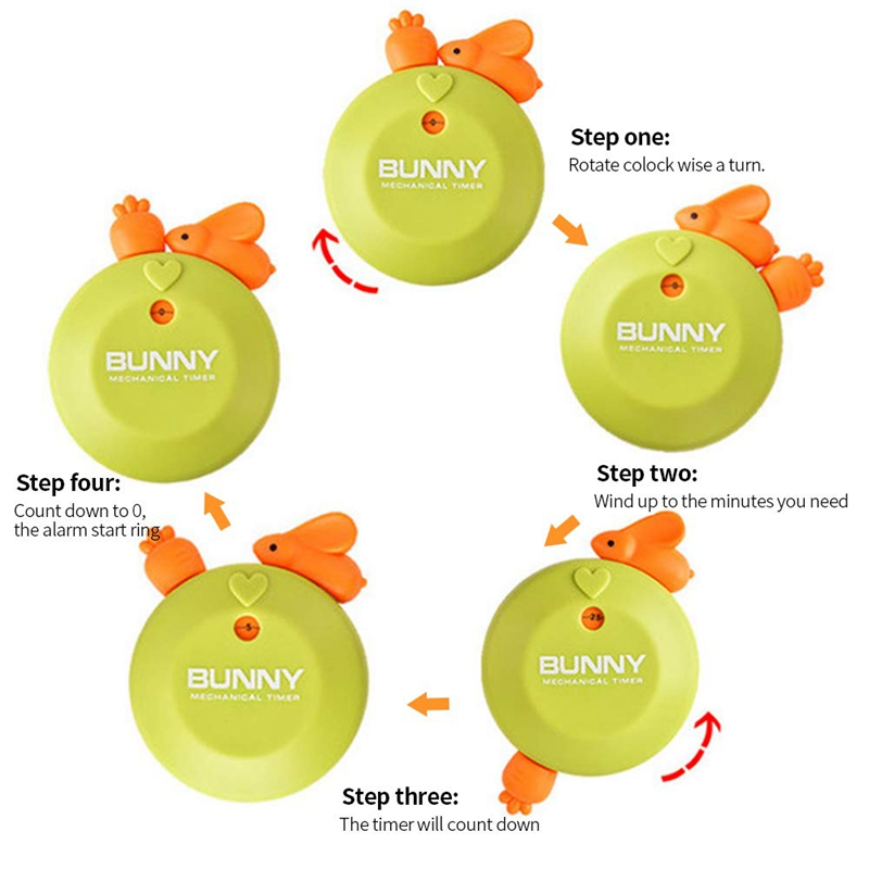 Bunny Kitchen Timer Kitchen Timer Timepiece Hourglass Up to 60Min I5C6