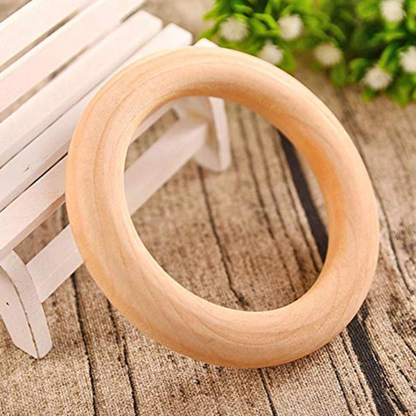 5x Wooden Ring For Crafting DIY Craft Jewelry Making M7Y7